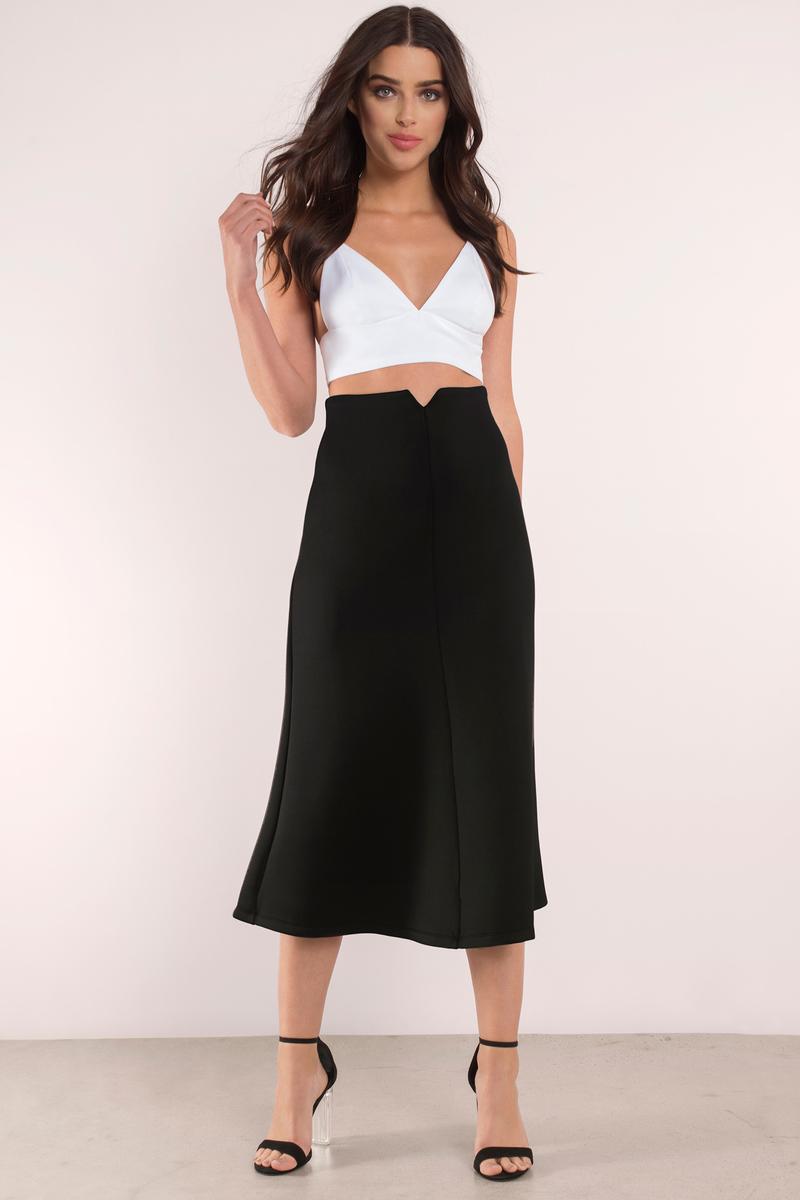 Date Night Black Midi Skirt