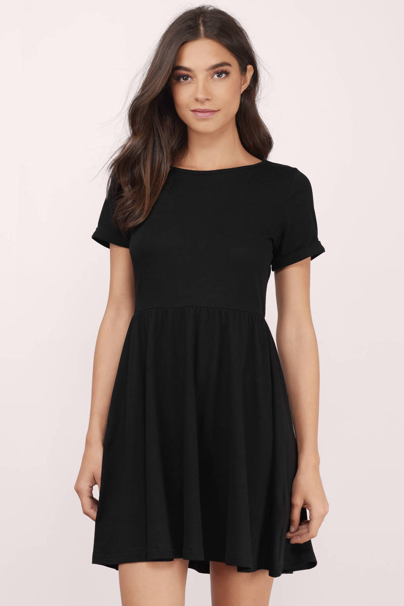Daydreaming Black Skater Dress