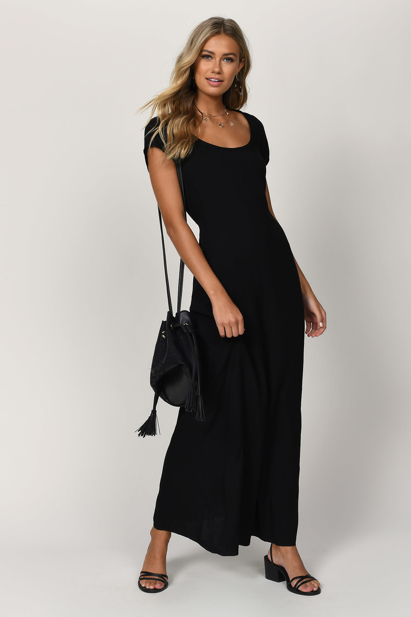 Dayna Black Maxi Dress
