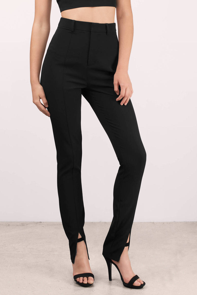Debutante Black Suit Pants