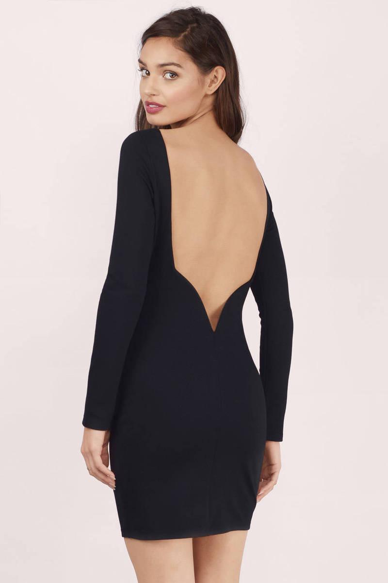 Deep Down V Back Bodycon Dress