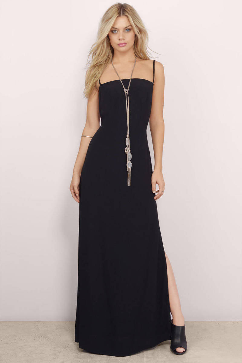 Deidre Black Maxi Dress