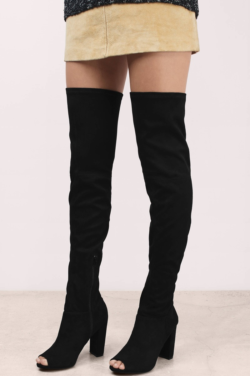 Delanie Dark Grey Suede Boots