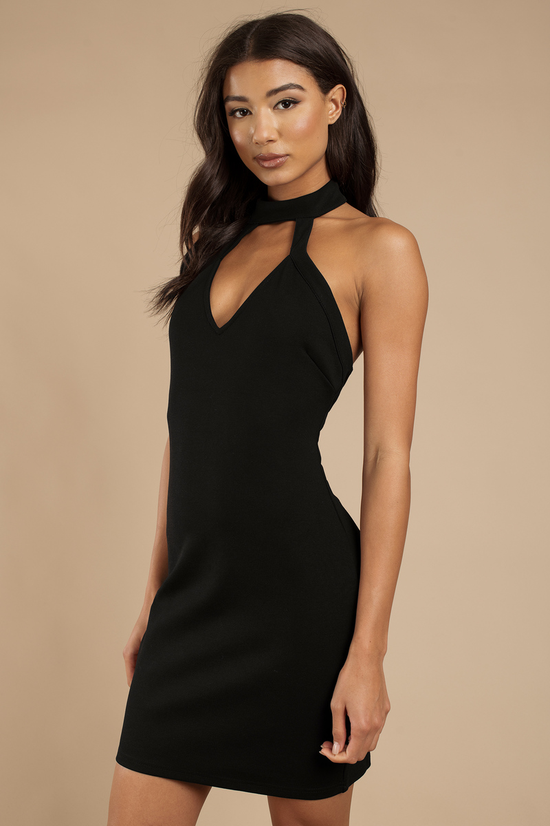 66c5d81749df Sexy Black Dress - Cut Out Dress - Chic Black Dress - Black Bodycon ...