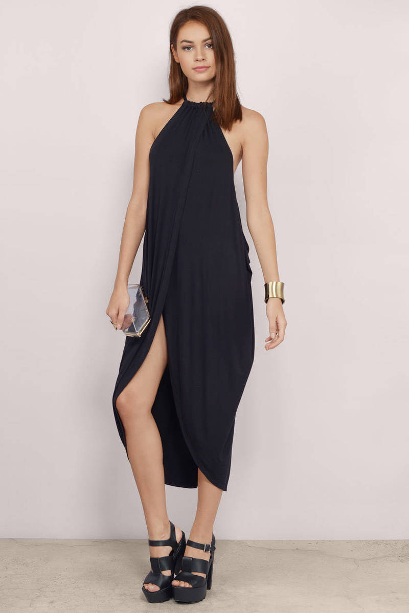 Destination Anywhere Olive Surplice Mididress