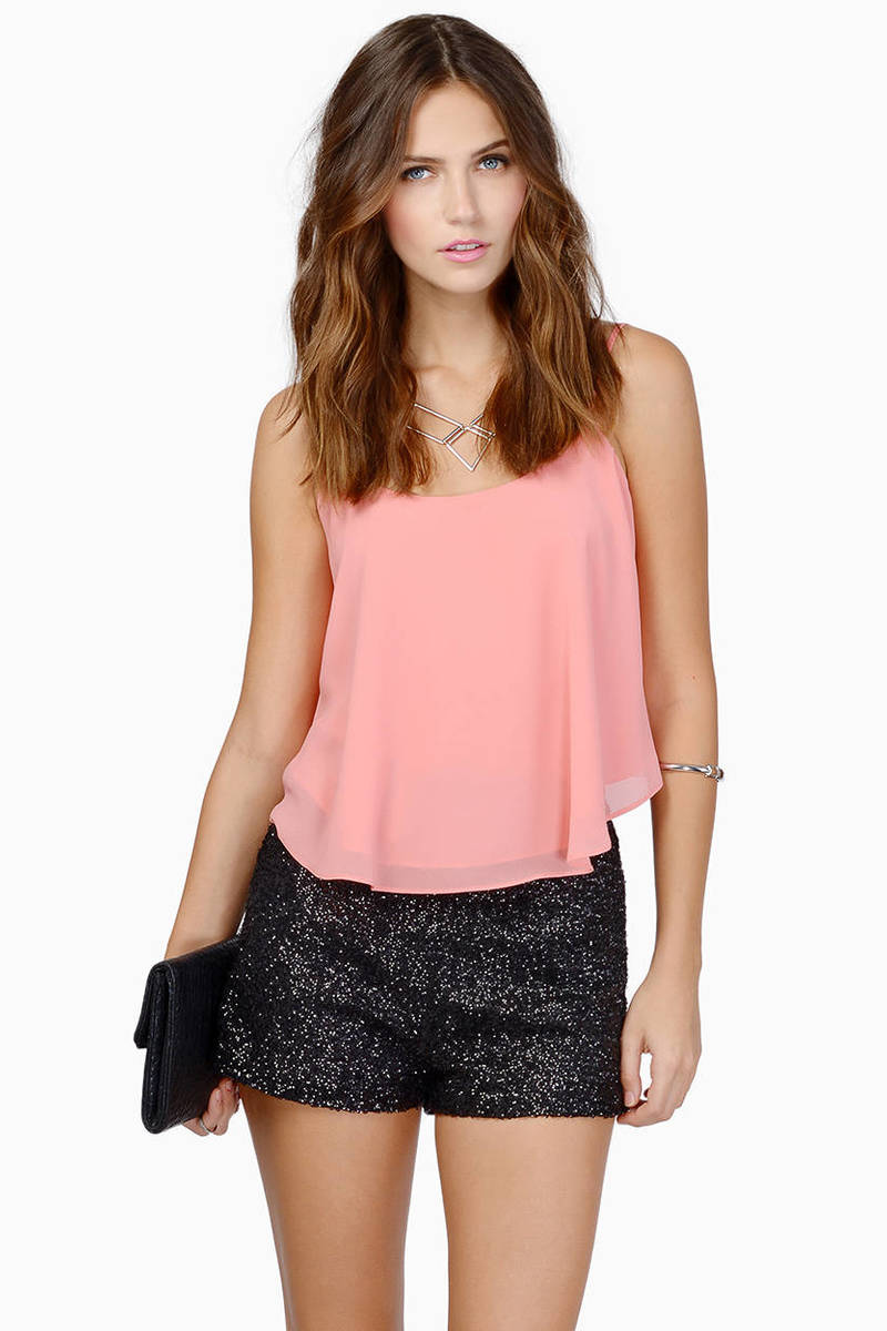 Diva Black Sequin Shorts