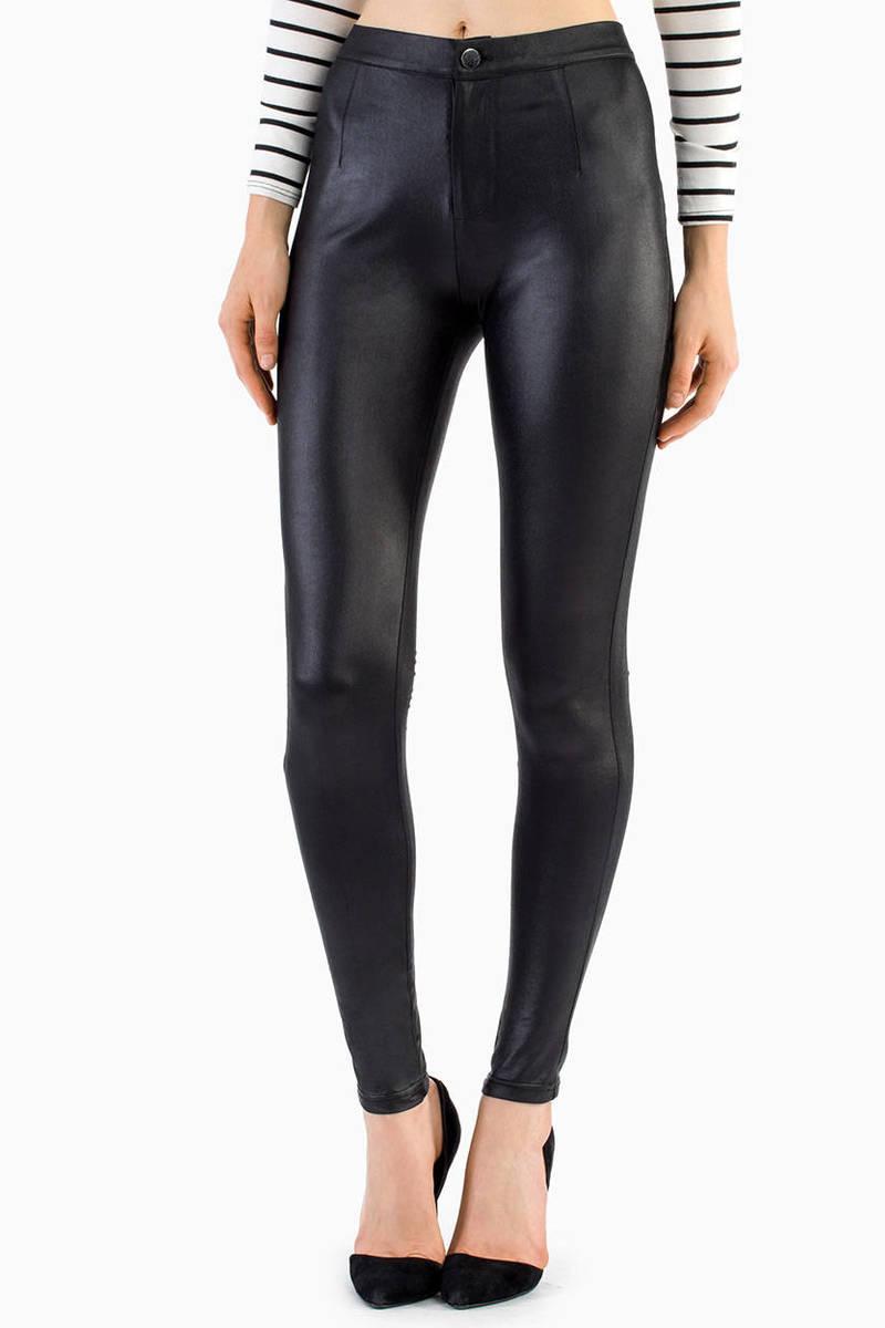 Donna Disco Grey High Waisted Pants