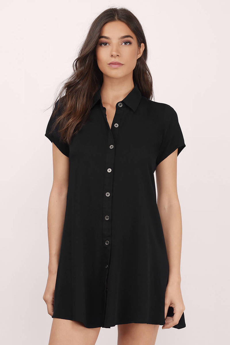 Easy Spirit Black Skater Dress
