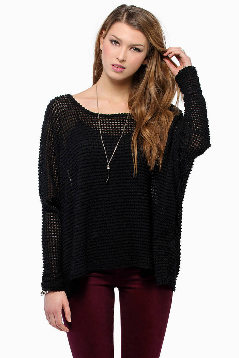 Edgemont Black Knitted Sweater