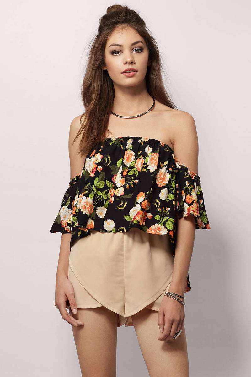 Efflorescence Black Crop Top