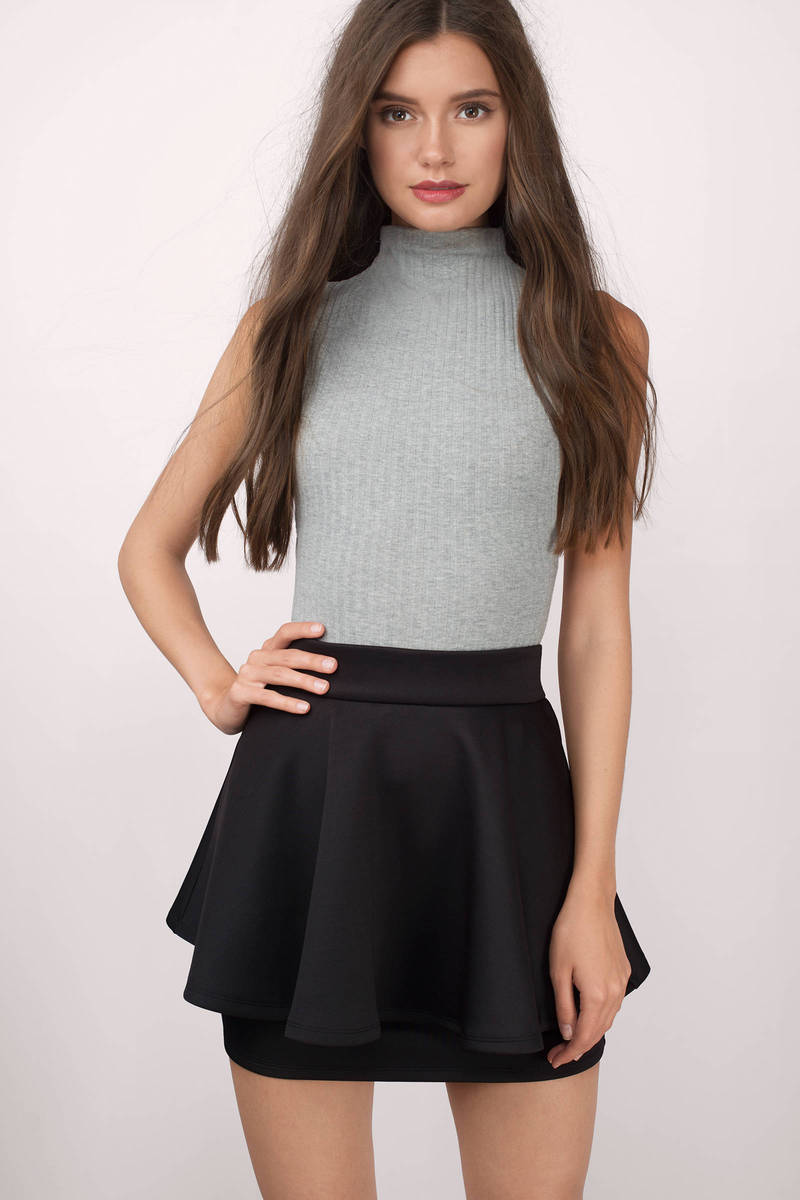 Elevate Black Peplum Skirt