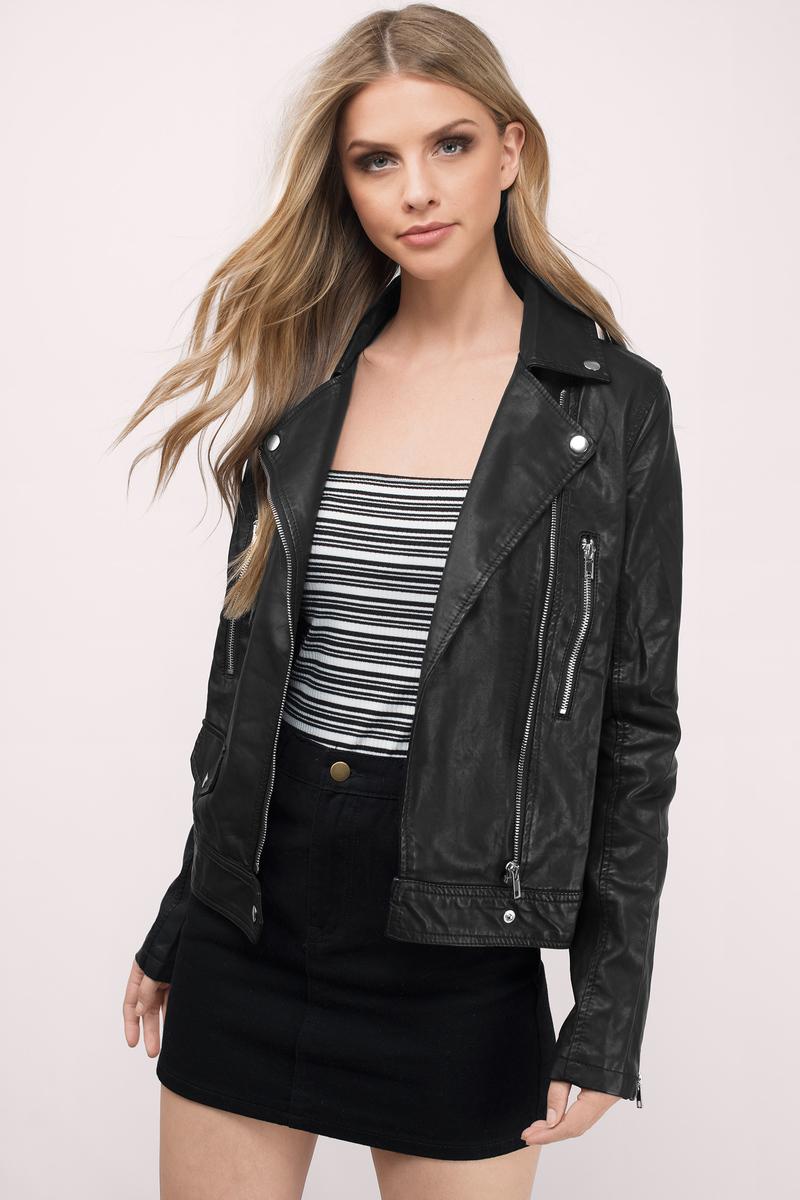 Elida Wine Moto Jacket