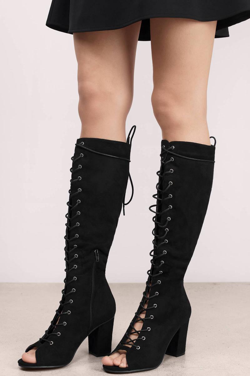 Ellie Black Suede Boots