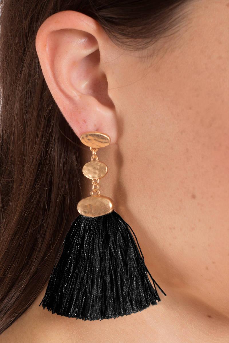 Ellie Black Tel Earring