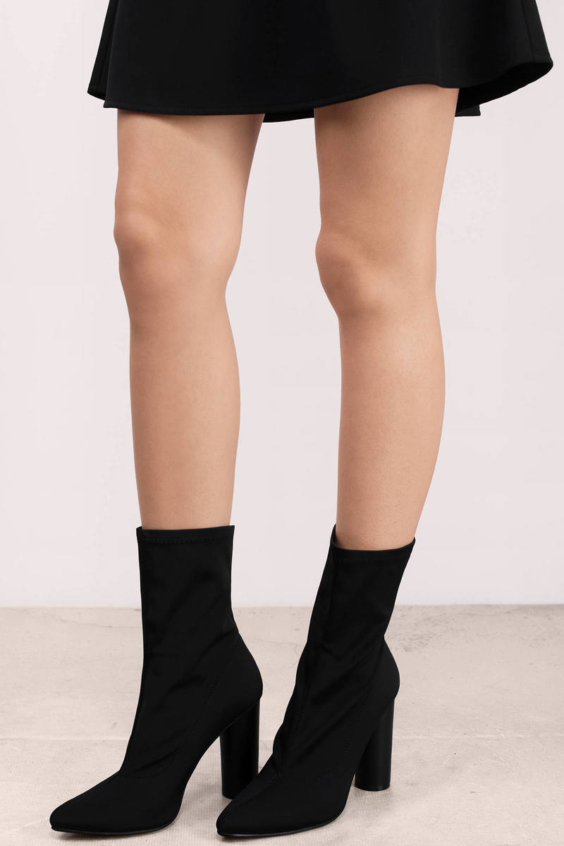 Elssa Grey Neoprene Boots