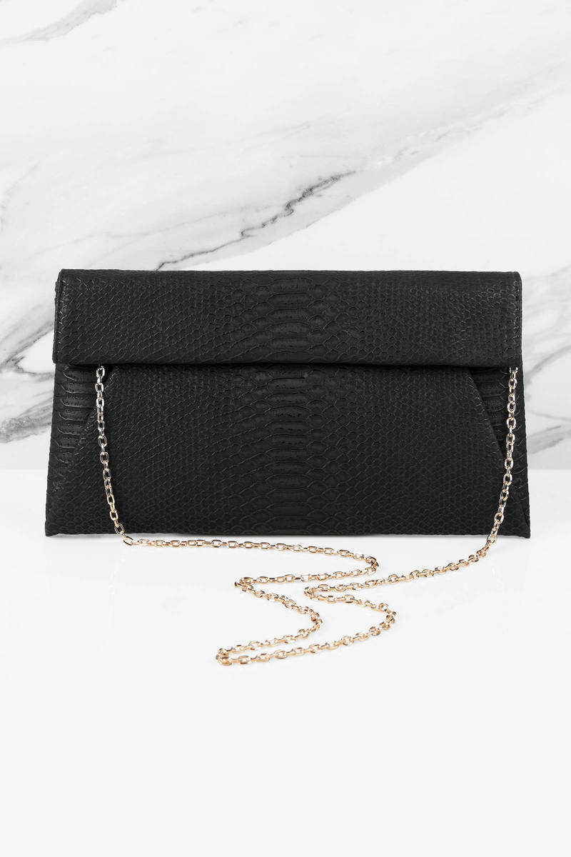Urban Expressions Urban Expressions Emilia Terracotta Snake Skin Embossed Clutch