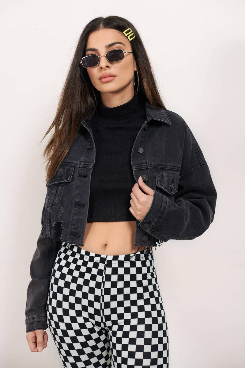 limited style clear and distinctive best sale Everything Goes Cropped Denim Jacket