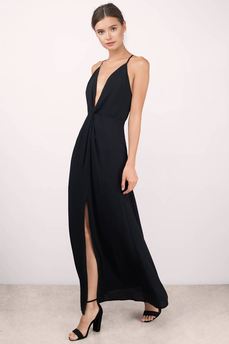 Eyes On You Black Maxi Dress