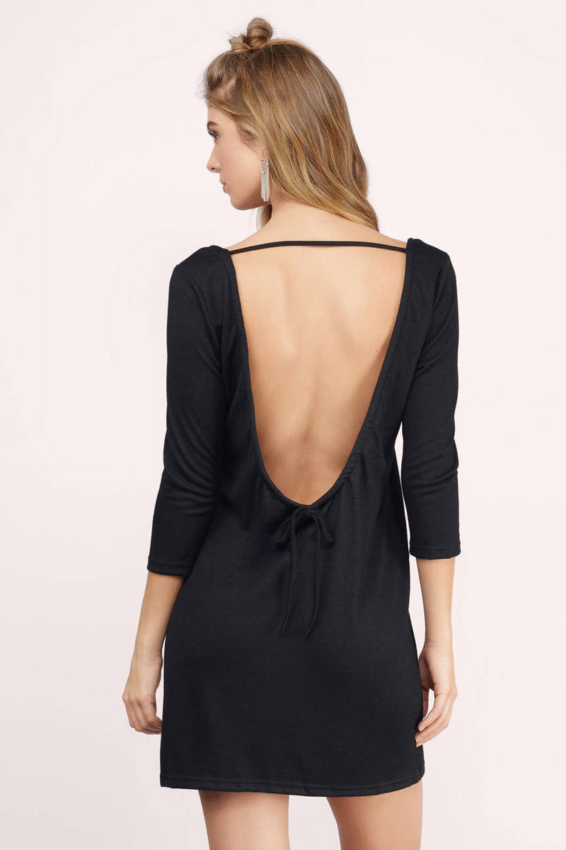 Falling Hard For You Black Shift Dress