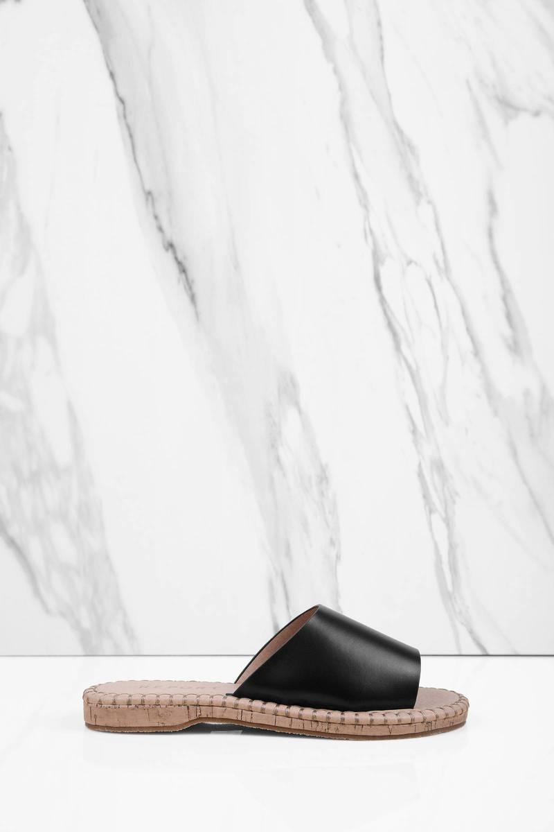 Report Footwear Farrel Black Sandals