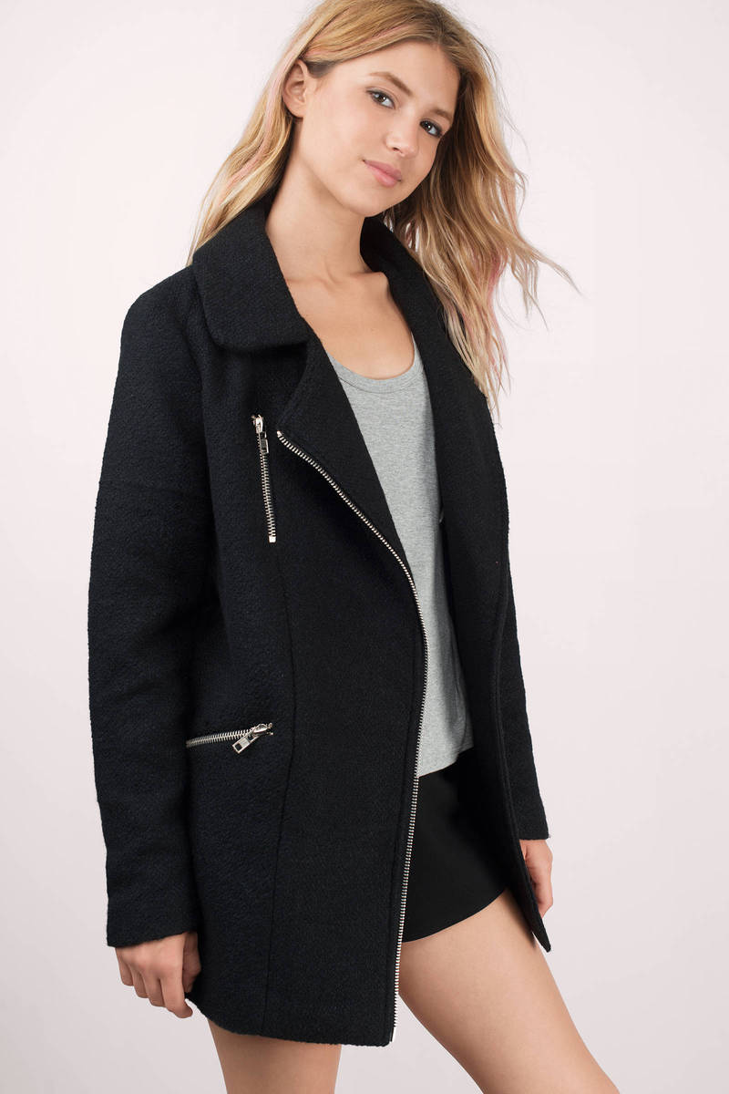 Fast Lane Black Moto Coat