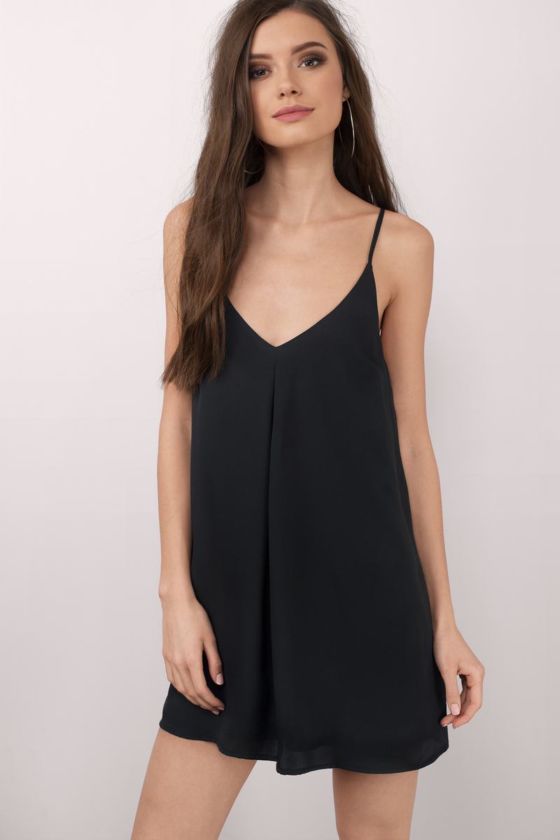 Feeling Cami Black Shift Dress