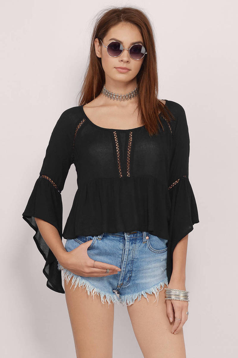 Finders Keepers Black Blouse