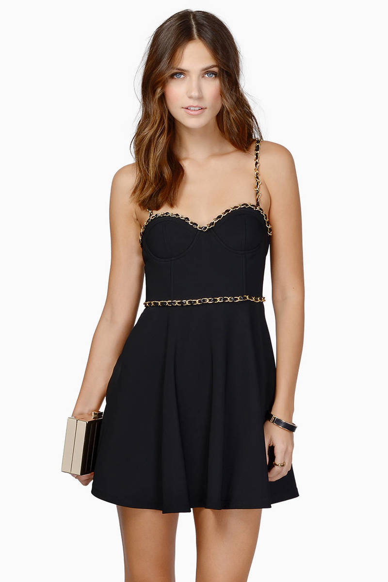 Fit Me Well Black Skater Dress