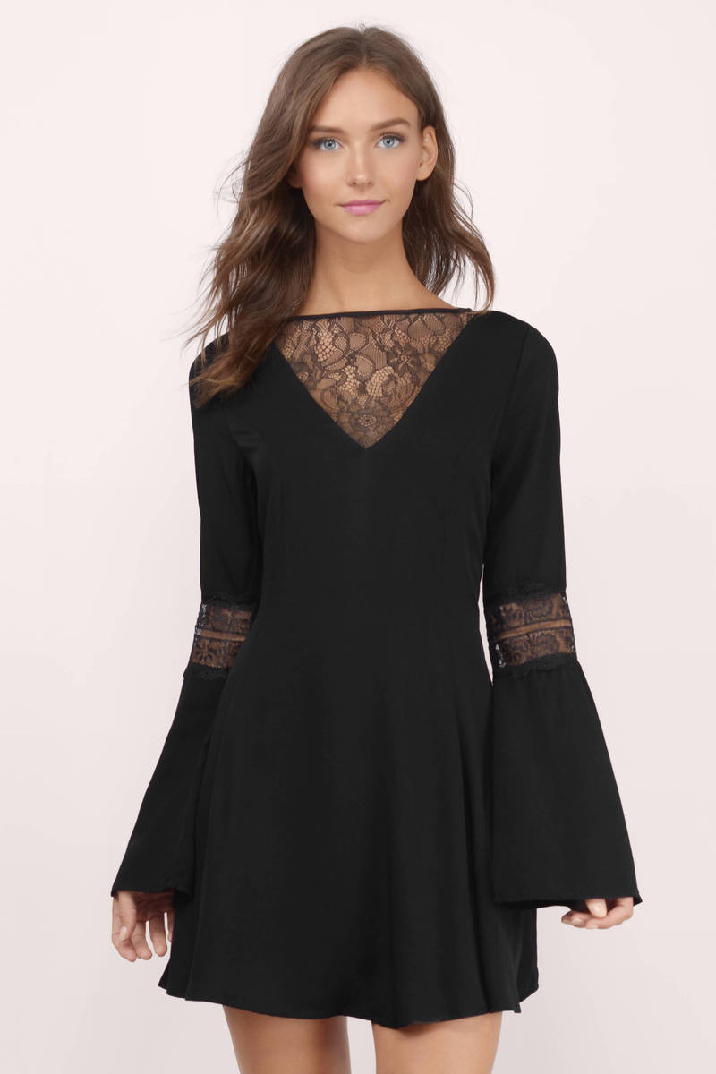 Flirt Around Olive Lace Skater Dress