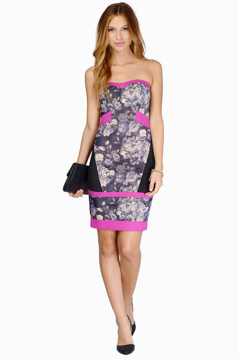 Ara Pacis Floral Bodycon Dress