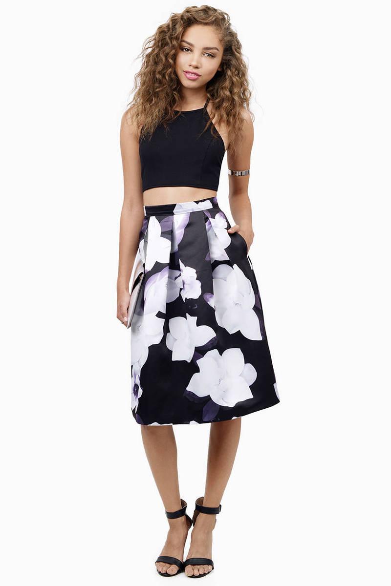 Arianna Floral Flared Skirt