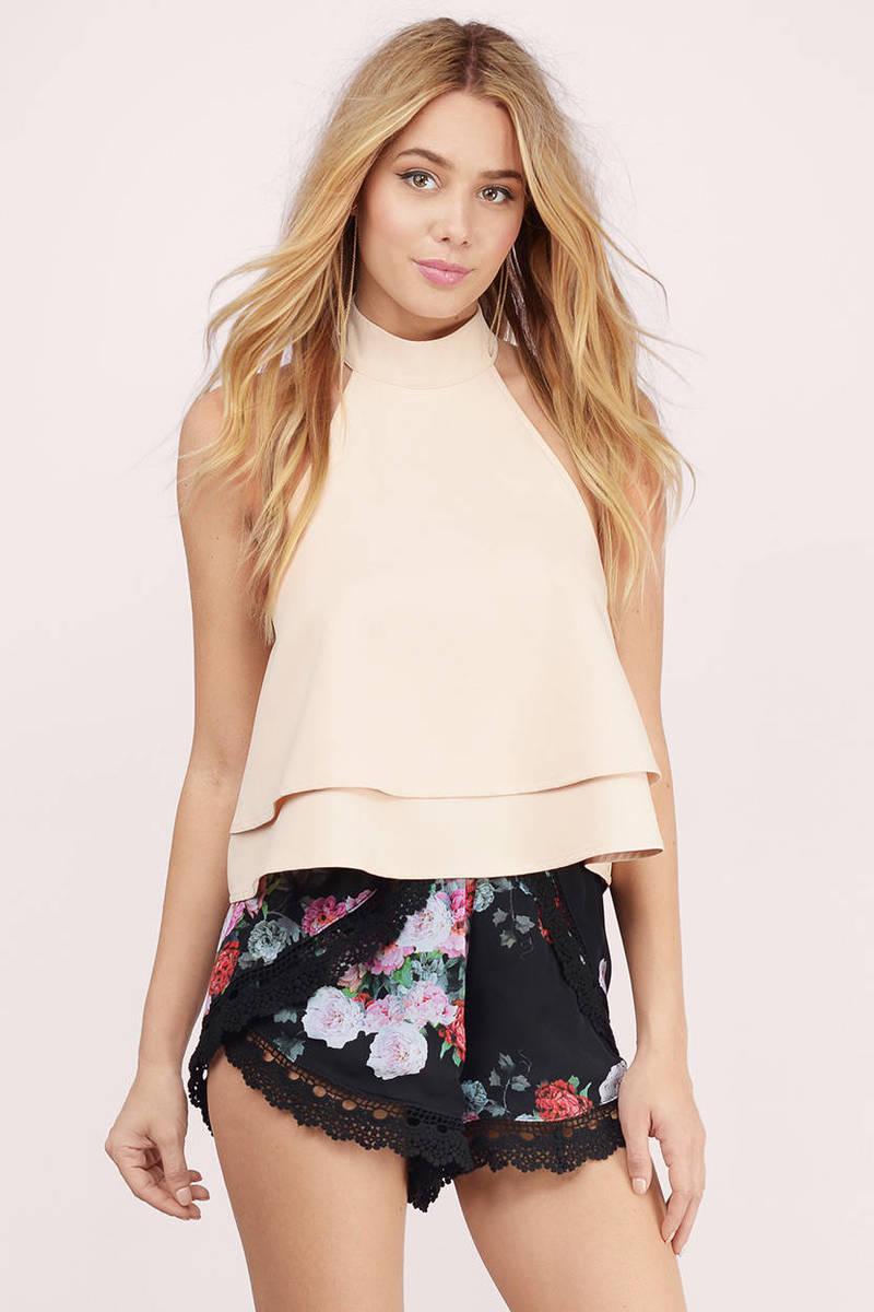 Marigold Black Floral  Floral Shorts