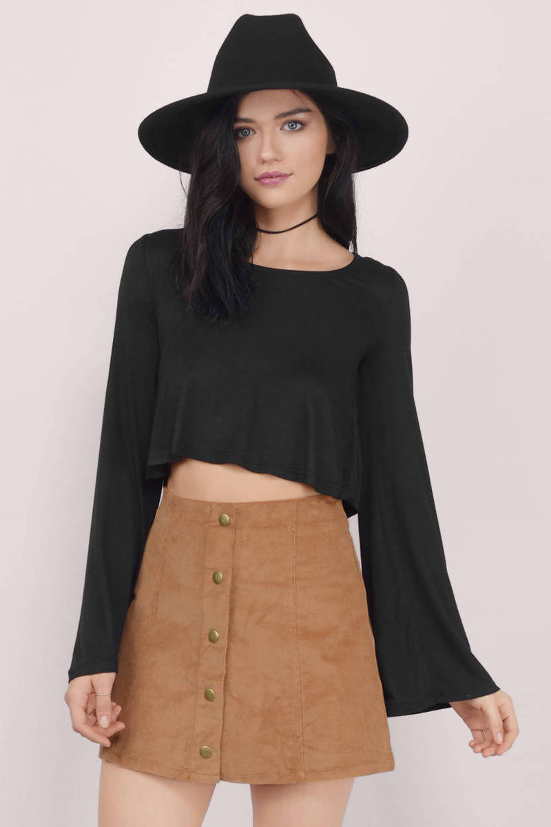 Flutter And Flow Wine Crop Top