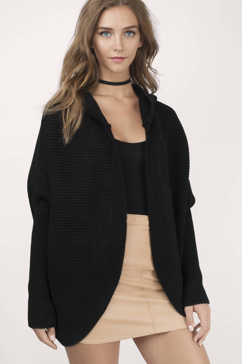 Cheap Black Cardigan - Oversized Cardigan - Black Cardigan - $20 ...