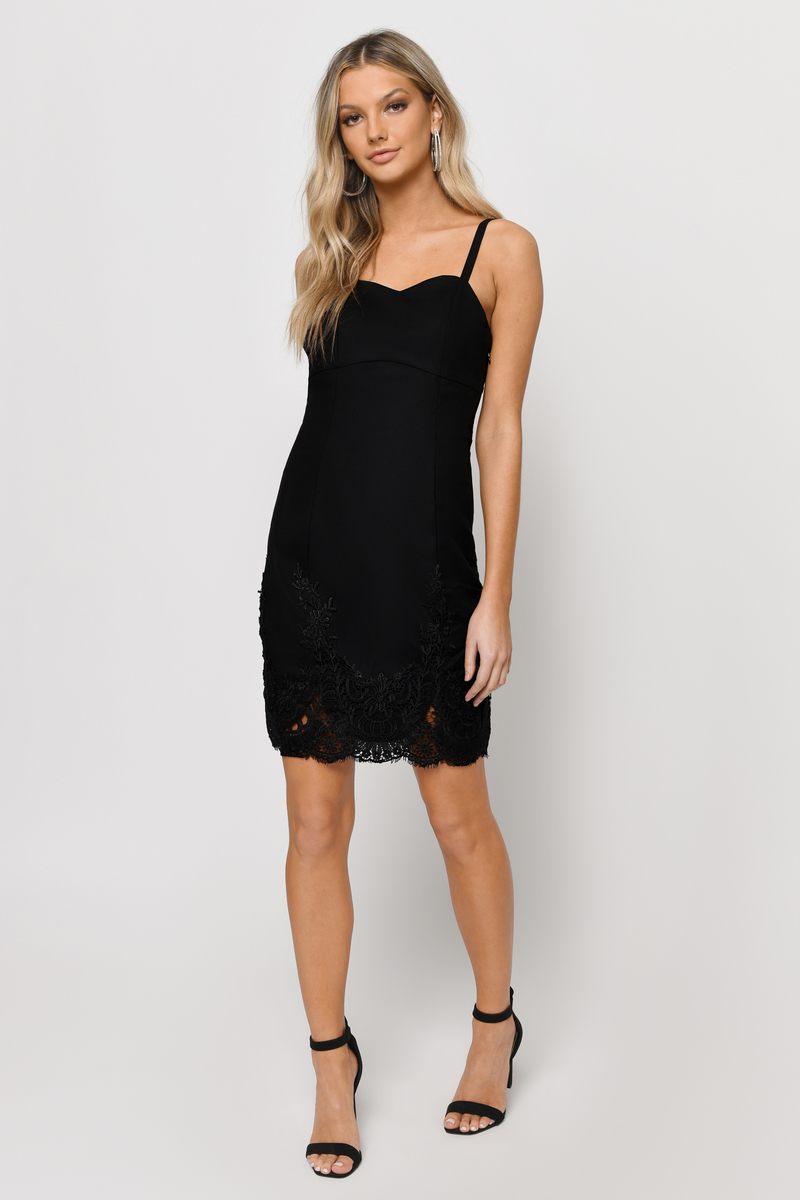 Focus On Me Black Lace Bodycon Dress