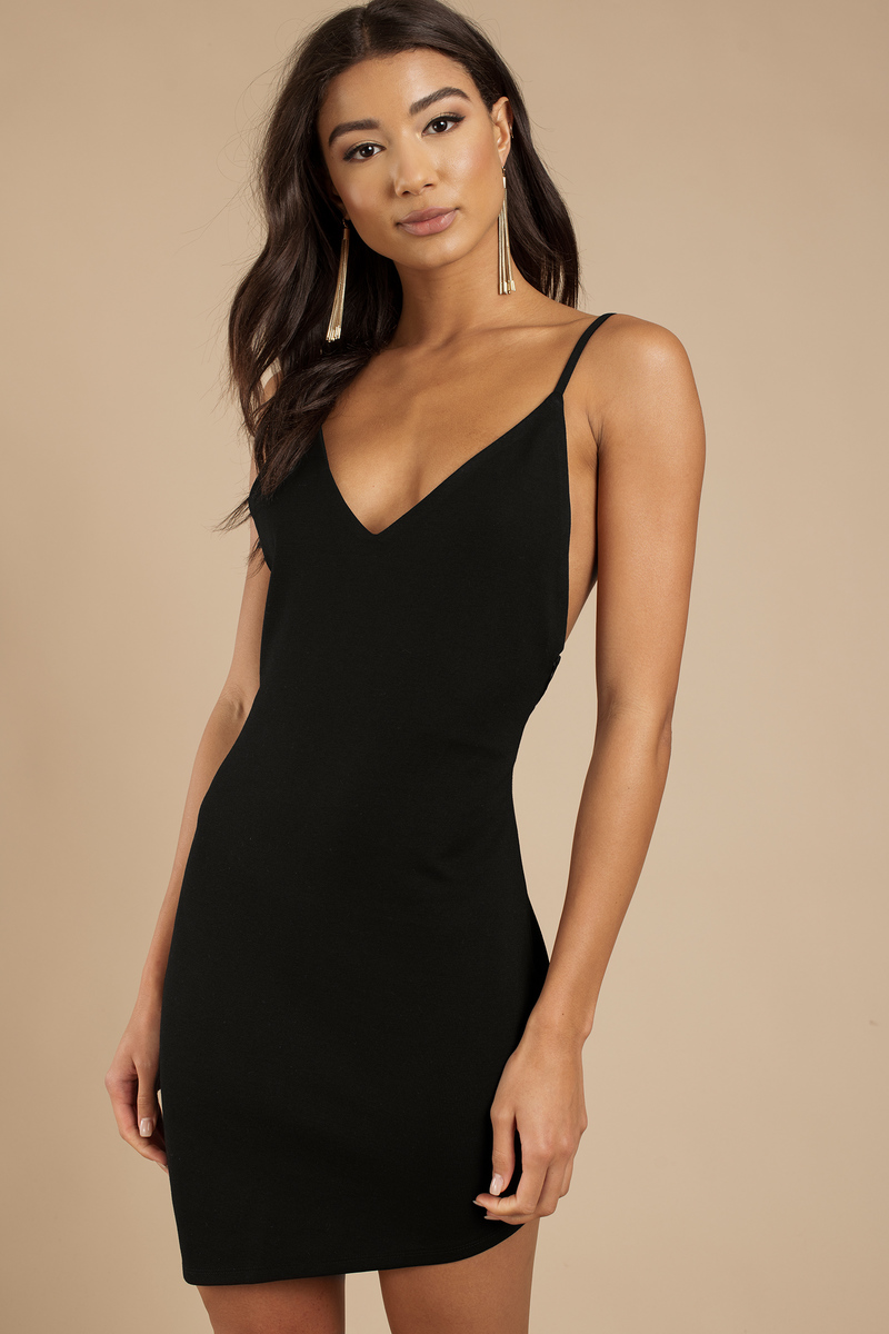 Frances Black Bodycon Dress
