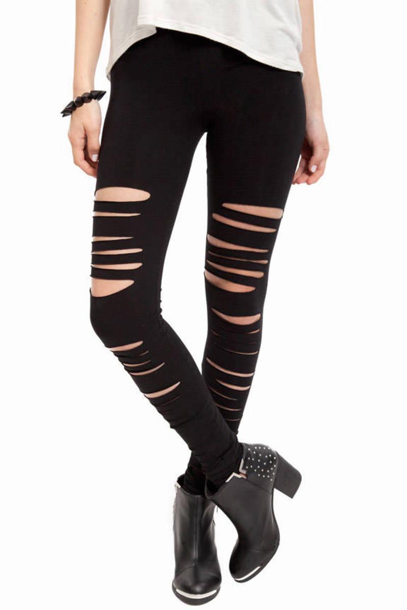 Front Slashed Leggings