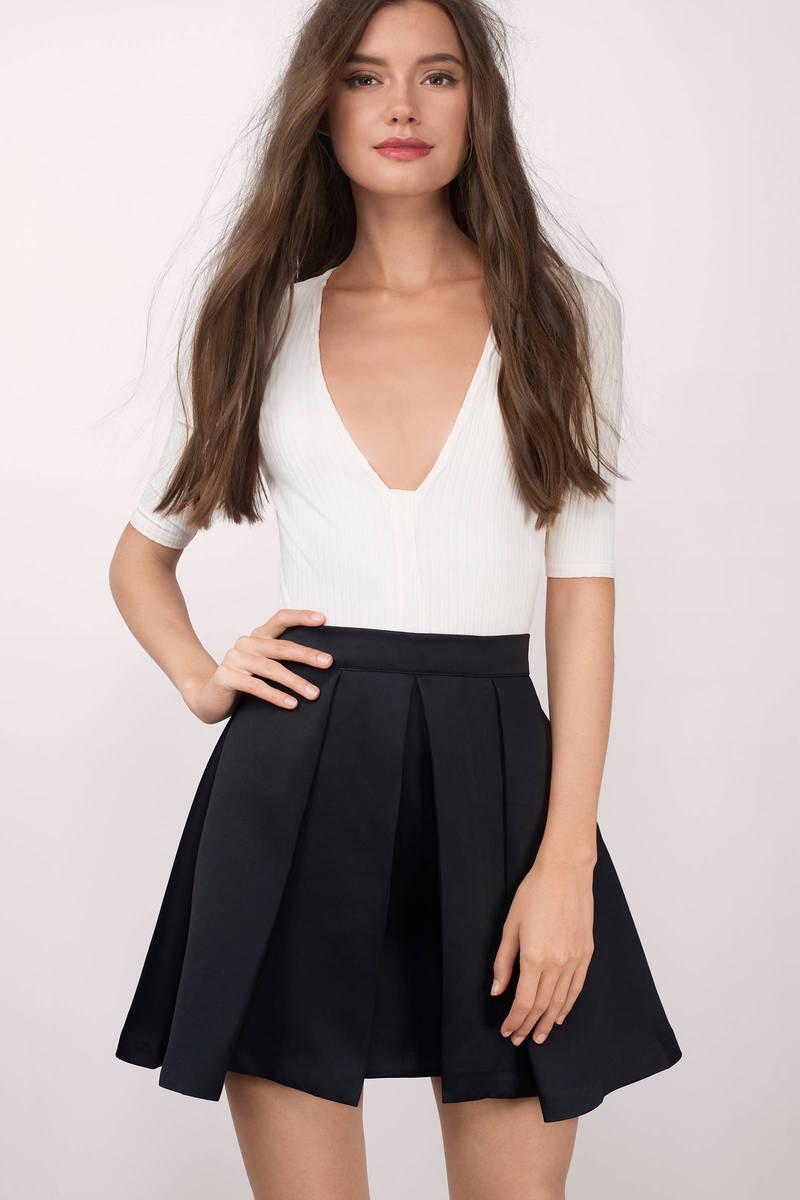 Full Bloom Black Skirt