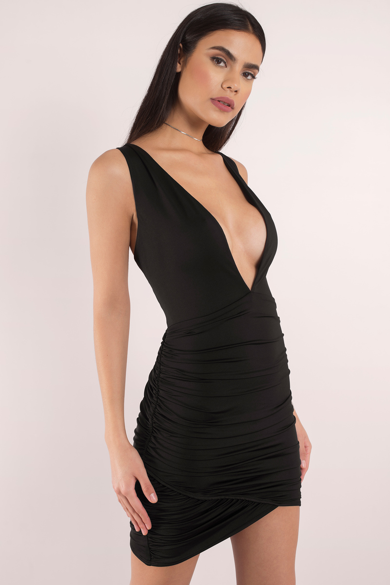 Gareth Black Bodycon Dress