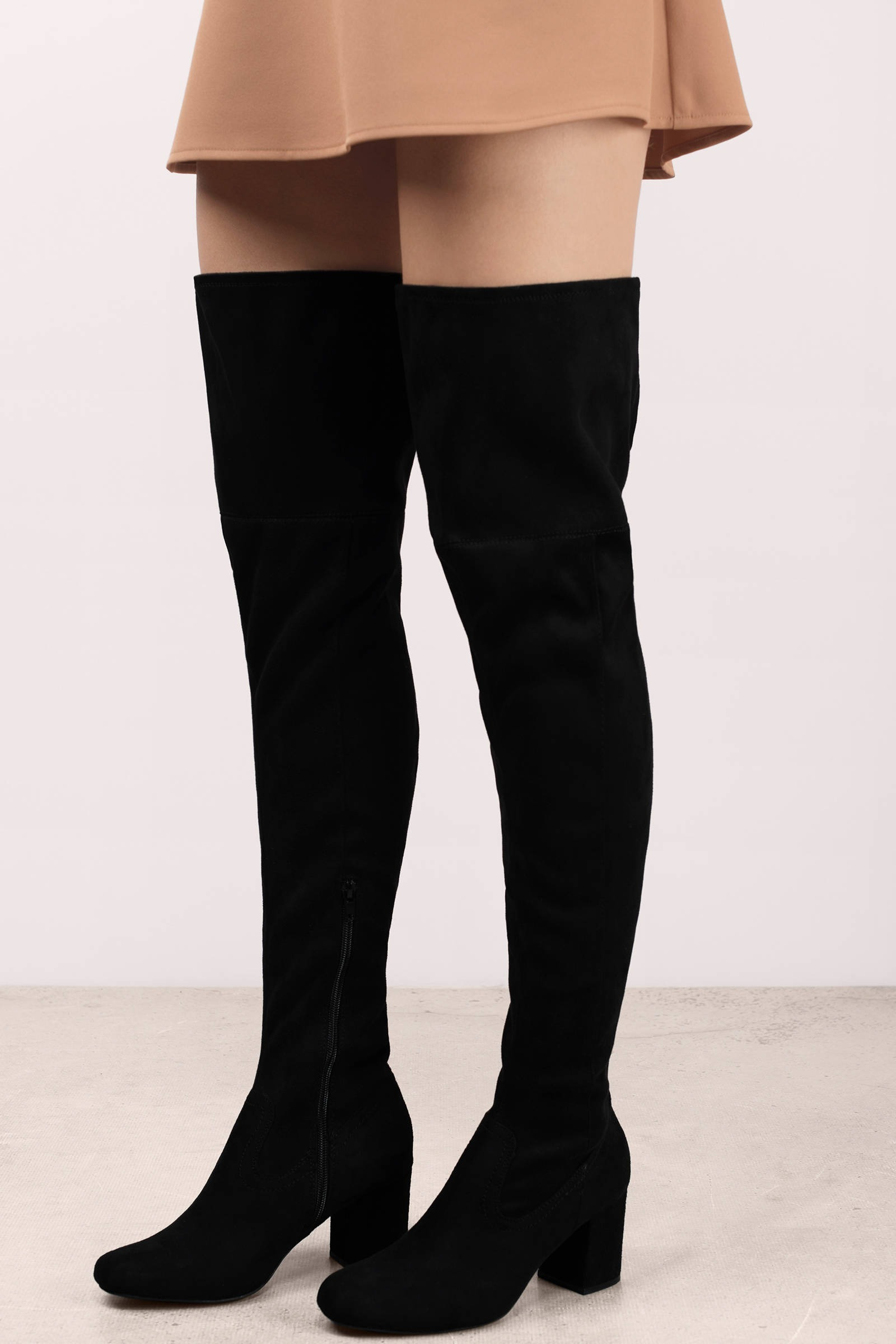 Black Boots - Black Boots - Thigh High Boots - $49.00