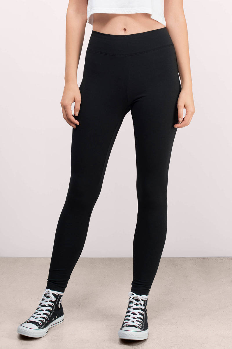 Get Comfy Black Jersey Leggings