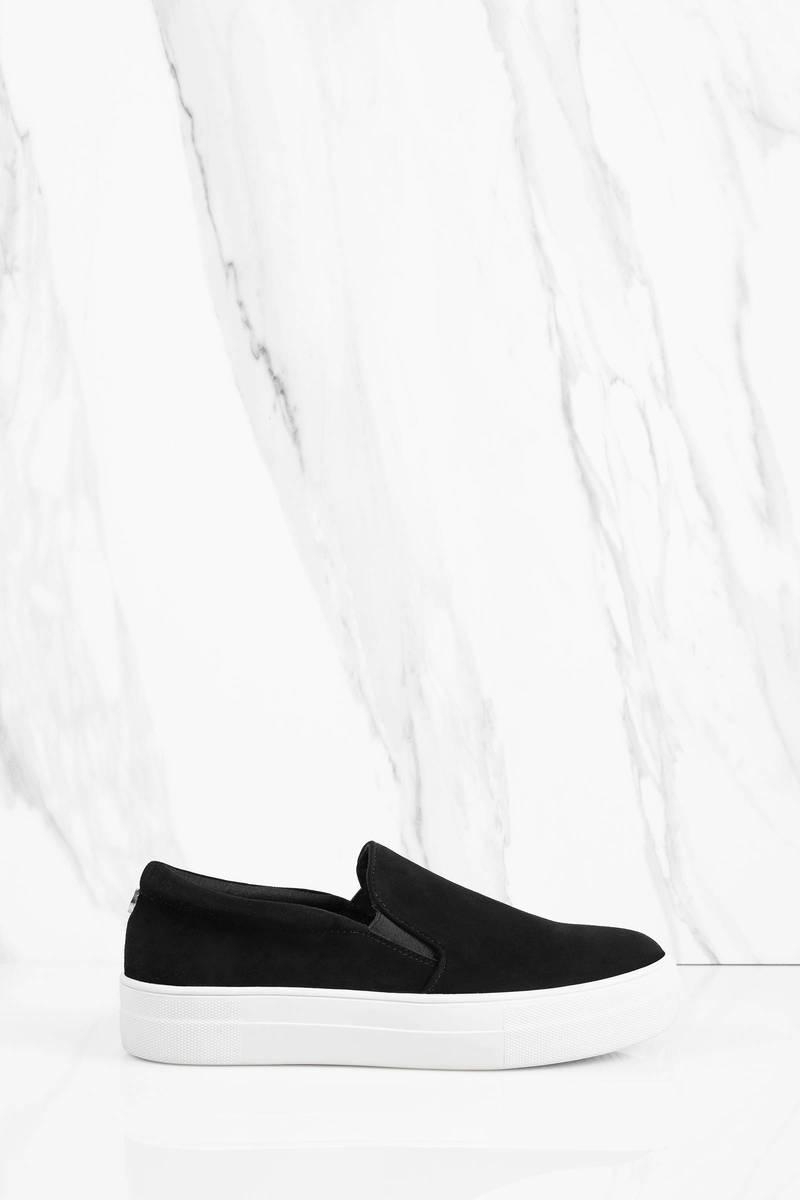 Steve Madden Steve Madden Gills Black Suede Sneakers