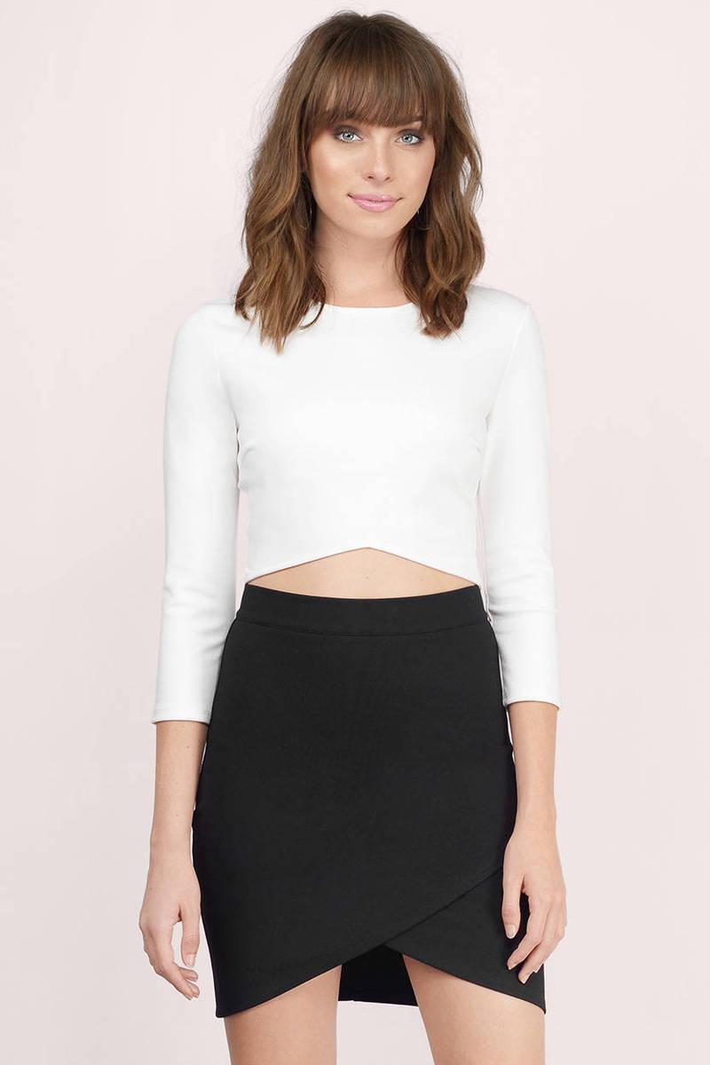a4bf4ea97d Black Skirt - Ponte Skirt - Mini Skirt - Black Mini Skirt -  21 ...