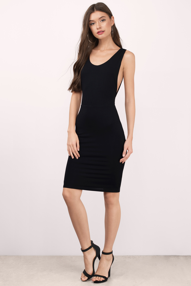 Gisele Black Midi Dress