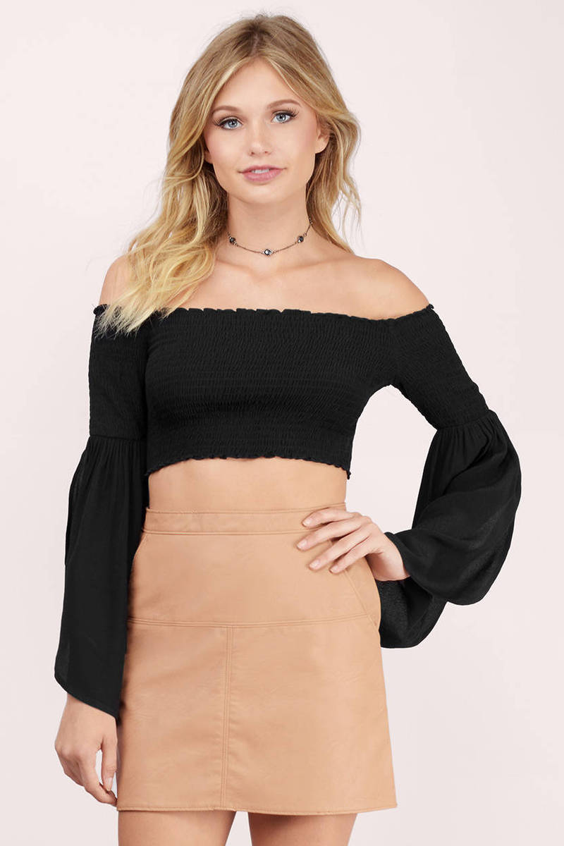 Go Free Black Crop Top