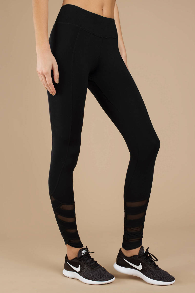 exclusive shoes replicas store Gorgeous Gal High Rise Mesh Detailed Leggings
