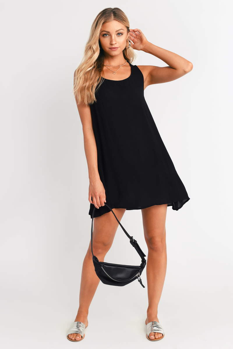 Got It Now Black Shift Dress