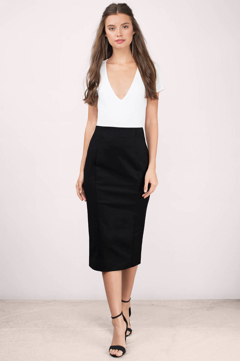 Grace Black Midi Skirt
