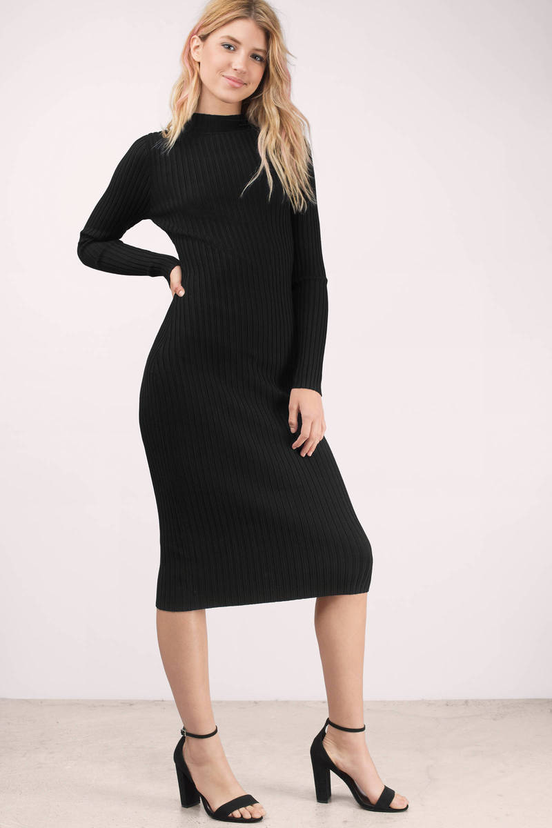 Grand Entrance Black Bodycon Dress