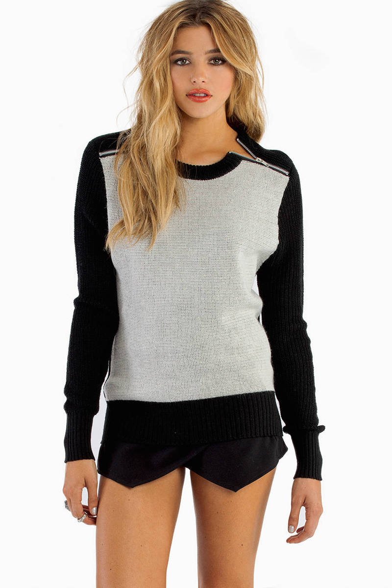 Zippered Panes Sweater